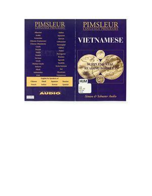Paul Pimsleur. Pimsleur Vietnamese Course
