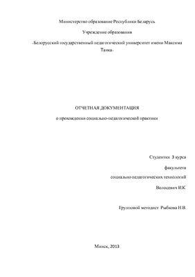 Отчет по социально-педагогической практике