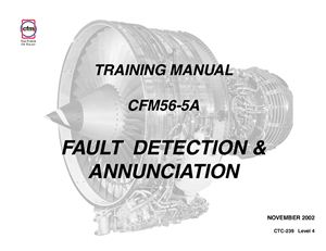 CFM56-5A Training manual. Fault detection & annunciation. CTC-239 Level 4