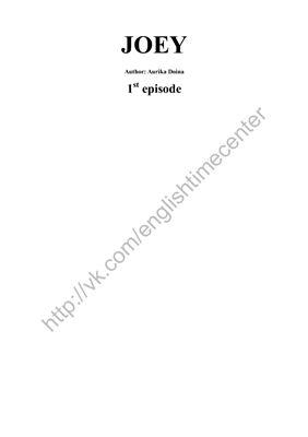 Doina Aurika. JOEY 1st Episode